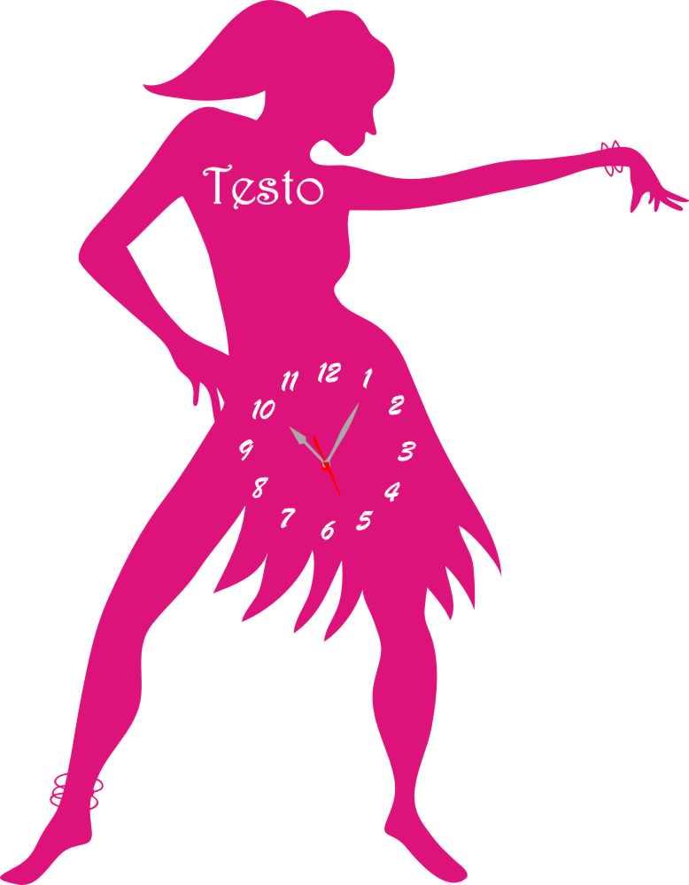 Ben noto Orologio da Parete a Forma di Ballerina Legno e Plexiglass IB18