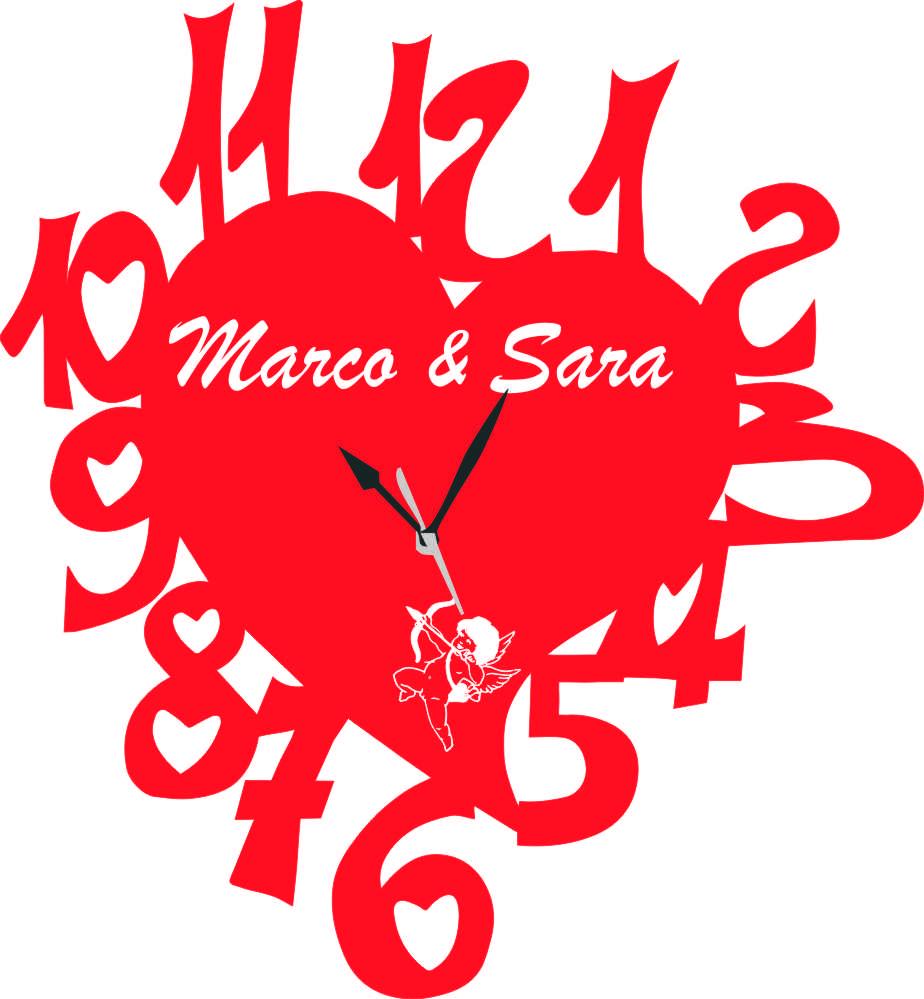 Popolare da Parete a Forma di Cuore San Valentino con incisione vostri nomi  FS73