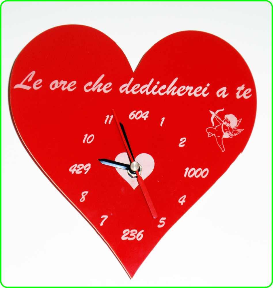 Favorito Orologio da Parete a Forma di Cuore con Frase d'amore incisa Legno  AW19
