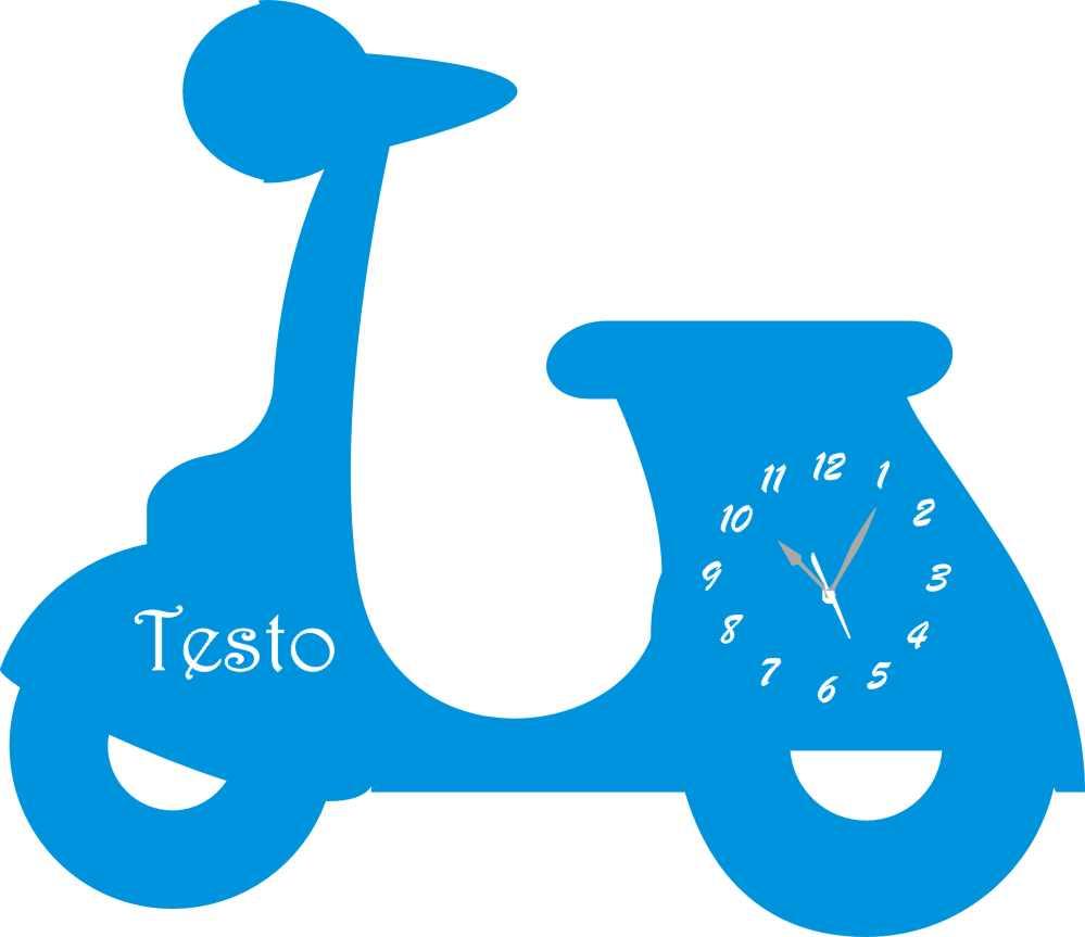 Orologio in Legno e Plexiglass da Parete a Forma di Vespa Legno e ...