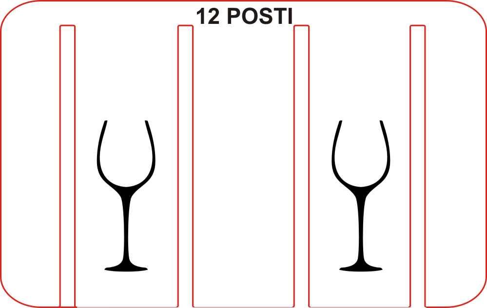 Rastrelliera porta bicchieri porta calici 12 posti legno e - Porta calici ikea ...