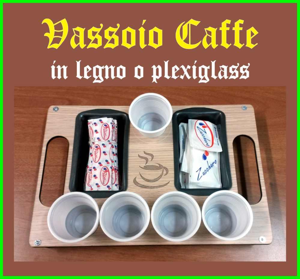 Vassoio porta caffè legno e plexiglass personalizzato dimensioni ...