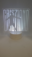 lampada 3d Cr7 Juventus