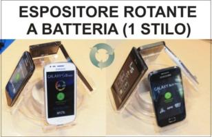 Espositore Rotante a Batteria per Telefoni altezza 16 cm. - larghezza 16 cm. - spessore 14 cm.