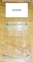 Espositore in plexiglass e legno sigaretta elettronica prova liquidi 12 posti
