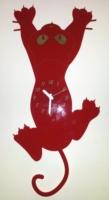 Orologio a Pendolo da Parete a Forma di Gatto che si arrampica Legno e Plexiglass