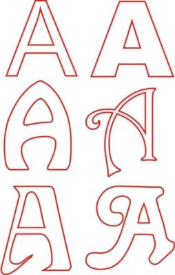 lettere plexiglass e legno