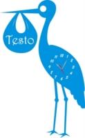 Orologio da Parete a Forma di Cicogna Legno e Plexiglass