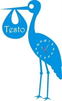 Orologio da Parete a Forma di Bambina con Regalo in Legno e Plexiglass