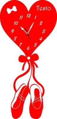 Orologio da Parete a Forma di  Cuore di Danza Legno o Plexiglass