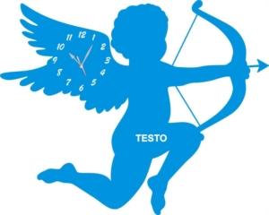 Orologio da Parete a Forma di Cupido in Legno e Plexiglass