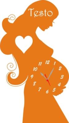 Orologio da Parete a Forma di Donna in Cinta in Legno e Plexiglass