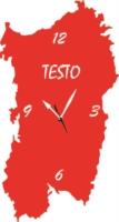 Orologio da Parete a Forma di Sardegna Legno o Plexiglass