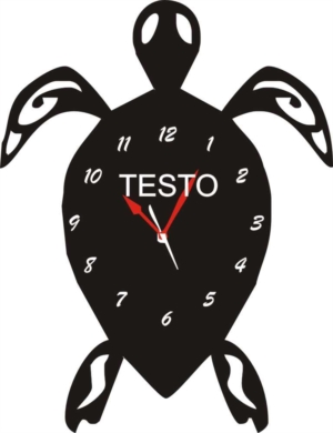 Orologio da Parete a Forma di Tartaruga in Legno e Plexiglass