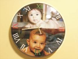 Orologio con foto da parete 30 cm.