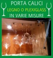 Rastrelliera Porta Bicchieri Porta Calici 9 posti Legno e Plexiglass dimensioni: altezza 29 cm. - larghezza 35 cm. spessore 5mm.