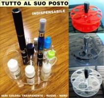 Espositore in plexiglass e legno sigaretta elettronica porta liquidi smoke organizer